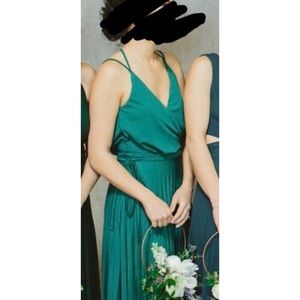 Maxi dark green ASOS dress